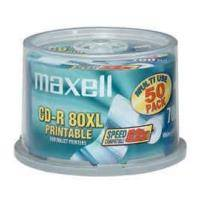 MAXELL CD-R 700MB 52X FULL FACE PRINTABLE 50 CAKEBOX