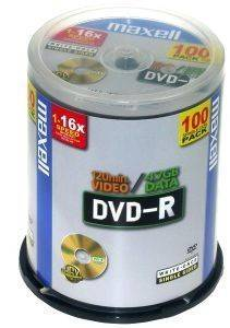 MAXELL DVD-R 4,7 16X 100 CAKEBOX