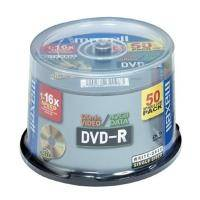 MAXELL DVD-R 4,7GB 16X FULL FACE PRINTABLE CAKEBOX 50