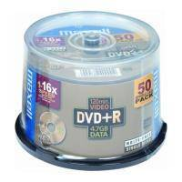 MAXELL DVD+R 4,7GB 16X CAKEBOX 50