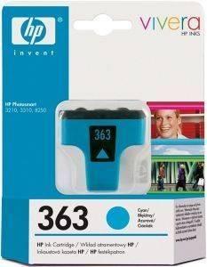 ΓΝΗΣΙΟ ΜΕΛΑΝΙ HEWLETT PACKARD NO 363 ΚΥΑΝΟΥ (CYAN) ΜΕ OEM: C8771EE αναλώσιμα μελανια για inkjet κυανο