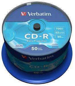CD-RECORDABLE VERBATIM 80MIN - 700MB CAKEBOX 50
