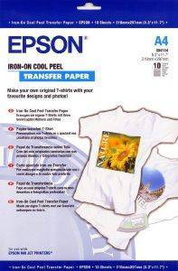 10 ΦYΛΛΑ A4 IRON ON COOL PEEL TRANSFER MEDIA ΓΝHΣΙΟ EPSON