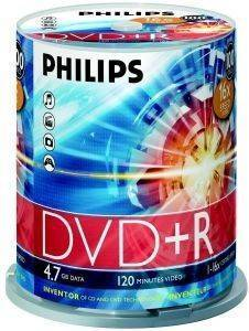 PHILIPS DVD+R 4,7GB 16X CAKEBOX 100 PACK