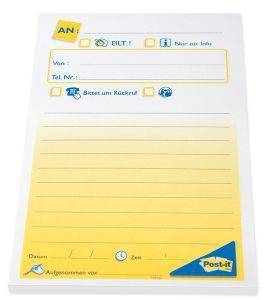 3M POST-IT 7693 PHONE MEMO 149X102MM