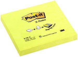 3M POST-IT R330N Z-NOTES NEON YELLOW 76 X 76 MM 100 ΦΥΛΛΑ