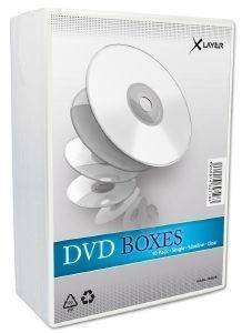 XLAYER DVD BOX SLIM CASE CLEAR 10 PACK