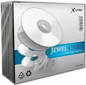XLAYER CD JEWEL CASE BLACK 5PCS