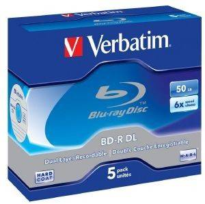 VERBATIM BLU-RAY BD-R 6X 50GB JEWEL CASE 5PCS
