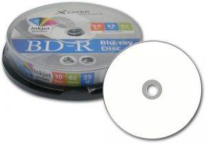 XLAYER BLU-RAY BD-R 6X 25GB INKJET PRINTABLE CAKEBOX 10PCS