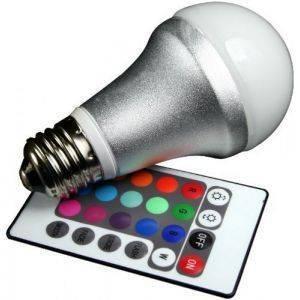 ΛΑΜΠΤΗΡΑΣ TECHLIGHT LED RGB E27 4.2W+ REMOTE CONTROL αναλώσιμα φωτισμοσ led