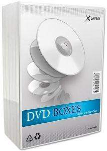 DVDBOX 2 DVDS XLAYER CLEAR 5 ΤΕΜ