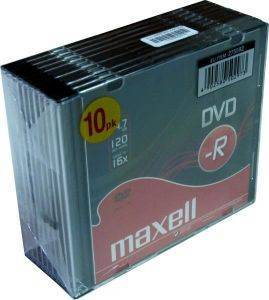 MAXELL DVD-R 4,7GB 16X SLIMCASE 10PCS