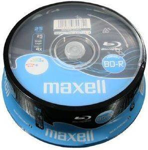 MAXELL BLU RAY BD-R 4X 25 GB FULL FACE PRINTABLE CAKEBOX 25PCS