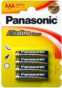 ΜΠΑΤΑΡΙΑ PANASONIC ALKALINE POWER 3A 4 ΤΕΜ. LR03