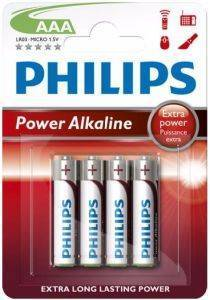 ΜΠΑΤΑΡΙΑ PHILIPS POWER ALAKLINE LR03P4B/10 AAA 4ΤΕΜ