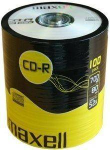 MAXELL CD-R 700MB 80MIN 52X SHRINK PACK 100PCS
