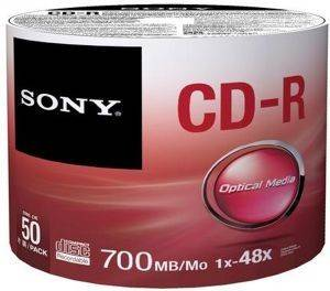 SONY CDR 700MB 50CDQ80SB 50 SPINDLE αναλώσιμα οπτικα μεσα cd recordable
