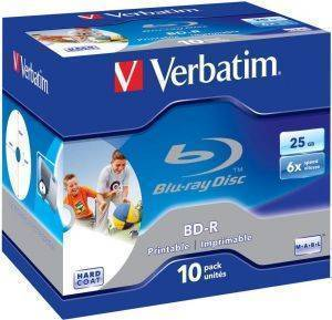 VERBATIM BD-R SL 25GB 6X PRINTABLE 10 PACK JC 43713
