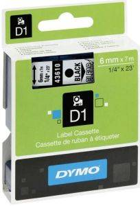 DYMO ΕΤΙΚΕΤΕΣ D1 6MM BLACK/CLEAR LABELS 43610 S0720770