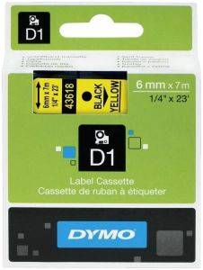 DYMO ΕΤΙΚΕΤΕΣ D1 6MM BLACK/YELLOW LABELS 43618 S0720790