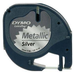 DYMO ΕΤΙΚΕΤΕΣ LETRATAG METALLIC TAPE SILVER 12MM X 4 M 91228 S0721750
