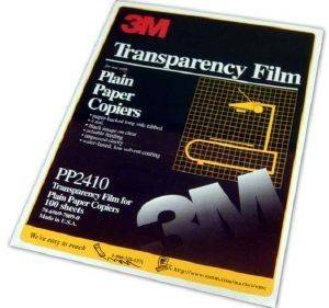 3M TRANSPARENCY FILM A4 FOR PLAIN PAPER COPIERS 100 ΦΥΛΛΑ ME OEM: PP2410