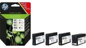 ΓΝΗΣΙΟ ΜΕΛΑΝΙ HEWLETT PACKARD MULTIPACK NO950XL - NO951XL OEM:C2P43AE αναλώσιμα μελανια για inkjet color pack