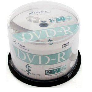 XLAYER DVD-R 4.7 GB MEDI GRADE THERMAL WHITE CAKEBOX 50PCS