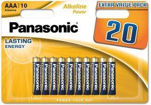 ΜΠΑΤΑΡΙΑ PANASONIC ALKALINE POWER LR03 3Α 20ΤΕΜ αναλώσιμα μπαταριεσ aaa