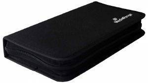 MEDIARANGE MEDIA STORAGE WALLET FOR 96 DISCS BLACK