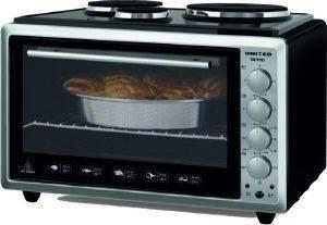 HΛΕΚΤΡΙΚΟΣ ΦΟΥΡΝΟΣ ΜΕ 3 ΑΝΟΞΕΙΔΩΤΕΣ ΕΣΤΙΕΣ UNITED EO 9727 ηλεκτρικές συσκευές κουζινακια φουρνακια φουρνακια