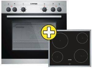 ΣΕΤ ΦΟΥΡΝΟΣ-ΕΣΤΙΑ PITSOS FAMILY PA52CF65G (P1HEB52052 + BRE645G06) ηλεκτρικές συσκευές σετ φουρνοι εστιεσ σετ φουρνοι κουζινεσ