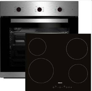 ΣΕΤ ΦΟΥΡΝΟΣ-ΕΣΤΙΑ BEKO BIE 22101 X + HIC 64401 T ηλεκτρικές συσκευές σετ φουρνοι εστιεσ σετ φουρνοι κουζινεσ