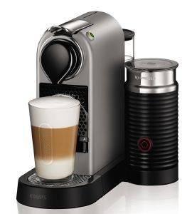 ΚΑΦΕΤΙΕΡΑ KRUPS NESPRESSO CITIZ - MILK XN760BS ηλεκτρικές συσκευές καφετιερεσ espresso πανω απο 15 bar