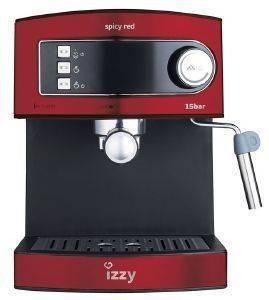 ΚΑΦΕΤΙΕΡΑ ESPRESSO IZZY 6823 BARISTA SPICY RED ηλεκτρικές συσκευές καφετιερεσ espresso 15 bar
