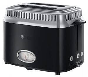 ΦΡΥΓΑΝΙΕΡΑ RUSSELL HOBBS 21681-56 RETRO CLASSIC NOIR ηλεκτρικές συσκευές φρυγανιερεσ 900 watt και ανω