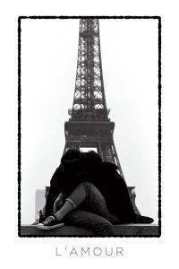 POSTER L'AMOUR EIFFEL TOWER LOVERS 61 X 91.5 CM