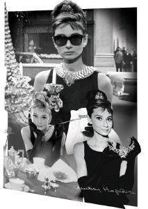 3D POSTER AUDREY HEPBURN MONTAGE 46.8 X 67.1 CM σπίτι  amp  διακόσμηση 3d posters σινεμα