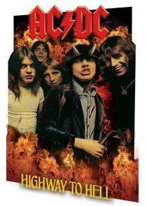3D POSTER AC DC HIGHWAY TO HELL 46.8 X 67.1 CM σπίτι  amp  διακόσμηση 3d posters μουσικη
