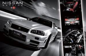 POSTER EASTON SKYLINE GTR     61 X 91.5 CM