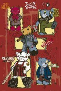 POSTER TEDDY SCARES 61 X 91.5 CM