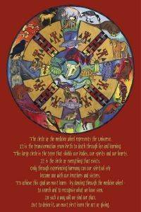POSTER THE MEDICINE WHEEL KAT 61 X 91.5 CM