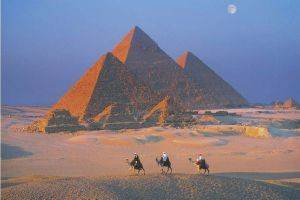 POSTER THE GREAT PYRAMIDS 61 X 91.5 CM