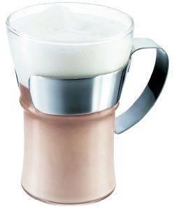 ΣΕΤ ΠΟΤΗΡΙΑ MILKSHAKE-ΣΟΚΑΛΑΤΑ BODUM ASSAM ΜΕ ΜΕΤΑΛΛΙΚΟ ΧΕΡΟΥΛΙ 0.35LT (2ΤΕΜ) σπίτι  amp  διακόσμηση ποτηρια milkshake σοκολατα