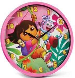ΡΟΛΟΙ ΤΟΙΧΟΥ HOLLYTOON DORA 34.5CM σπίτι  amp  διακόσμηση παιδικα ρολογια τοιχου
