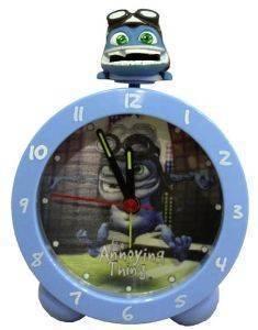 ΞΥΠΝΗΤΗΡΙ HOLLYTOON CRAZY FROG ΓΑΛΑΖΙΟ σπίτι  amp  διακόσμηση παιδικα ρολογια ξυπνητηρια