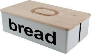ΨΩΜΙΕΡΑ SALT - PEPPER LOFT ΜΕΤΑΛΛΙΚΗ ΛΕΥΚΟ 38X22X12CM σπίτι  amp  διακόσμηση αξεσουαρ κουζινασ ψωμιερεσ