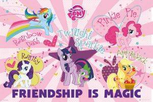 POSTER MY-LITTLE-PONY-FRIENDSHIP-IS-MAGIC 61 X 91.5 CM