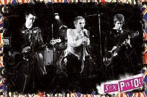 POSTER  SEX-PISTOLS-ON-STAGE  61 X 91.5 CM